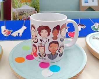 Mujerracas ceramic mug