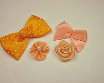 4 fabric bow with 38 mm approx - 14 pattern (J21