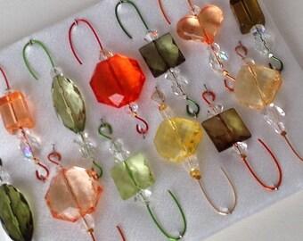 Autumn Inspired Beaded Ornament Hanger Hook Assortment - FREE SHIPPING