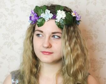Woodland Forest Wildflower Crown