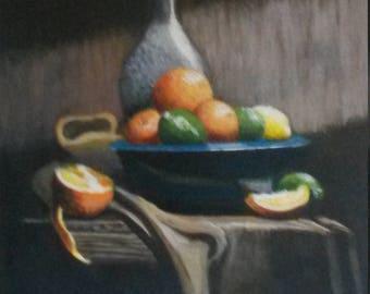 """Original artwork, """"Citrus"""" still life"""