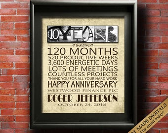 job anniversary gift ideas