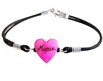 Personalized heart bracelet. Cheap kids gift.