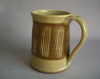 Hand thrown stoneware pottery beer mug   (BM-11)