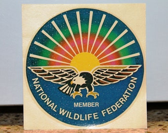 National Wildlife Federation Member Sticker - Vintage 1972