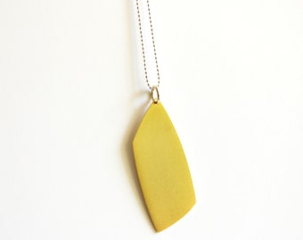 Summer Pendant Necklace - 24K Gold Plated Sterling Silver Geometric Pendant Necklace - Abstract Shaped Necklace - Fine Quality Silver Chain