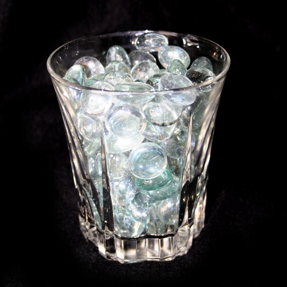 1 Pound Clear Flat Glass Marbles For Vases Aquariums