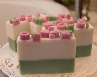 Soothing Lavender Soap, Lavender Essential Oil Spa Soap, Shea Butter Soap, Handmade Glycerin Soap, Moisturizing Soap, Decorative Soap Bar