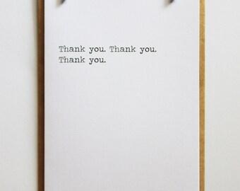 Thank you. Thank you. Thank you. | Minimalist Keepsake Notes Greeting Card