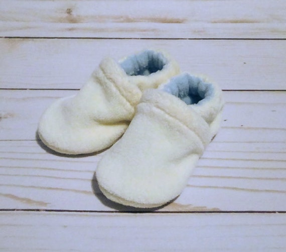 Blueberries & Cream: Soft Sole Baby Shoes 0-3M