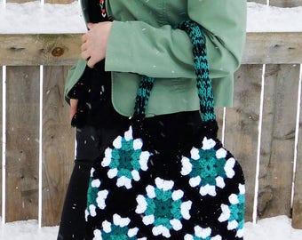 crochet purse, Mothers Day gift, diamond granny square bag, granny square handbag, granny square crochet handbags, granny square bag crochet