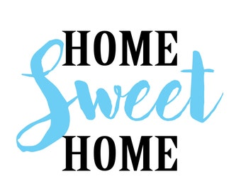 Home Sweet Home printable in blue