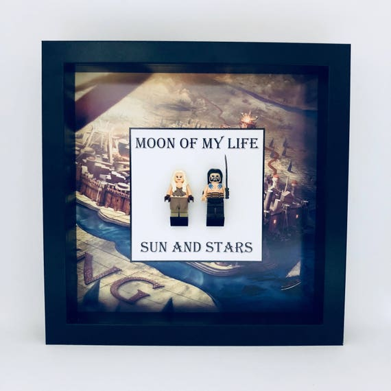 """Game Of Thrones """"Moon Of My Life, Sun And Stars"""" 2PC Minifigure Frame"""