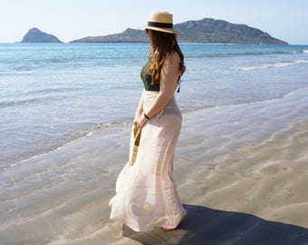 Swimsuit Cover-up, Beach Cover-ups, Swim Cover-ups   High-waisted Wrap Skirt   Maxi Resort wear, Beach wear    One-Size-Fits-Most    {Jenna}
