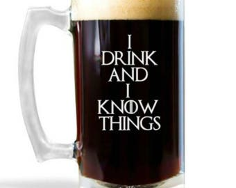 That's What I Do, I Drink and I Know, Game of Thrones Gift, Valentines Day Gift for Him, Game of Thrones Mug, Tyrion Lannister, GOT Mug