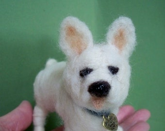 French Bulldog Felted Ornament/Sculpture