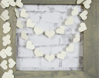 Crema corazón Garland - Garland de boda crema - Ivory bebé ducha Decor
