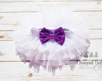 White Bloomers-Tutu Bloomers- Chiffon Bloomers-Diaper Cover-Holiday Wear-Baby Diaper Cover-Red Baby Bloomers