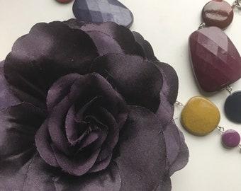SILK ROSA,  Flower , Dark Plum/ FL - 43
