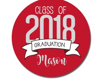 Graduation Stickers, Personalized Graduation Favors, Graduation Labels, Class of 2016, Congrats Grad, Graduation Party, Grad Stickers