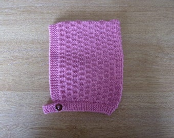 Rose Toddlers Hand Knitted Pixie Hat Size 1 ~ 2 Years