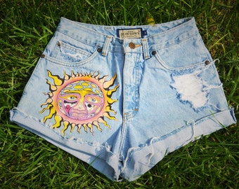 Custom Handmade Inspired Sublime High Waisted Shorts