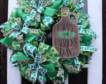 Happy St Patricks Day Wreath
