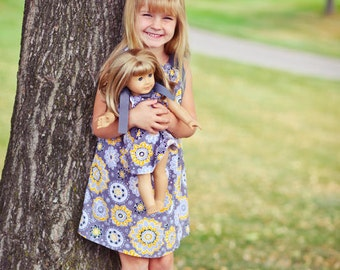 Matching Girl And American Girl Doll Pillowcase Dress You Choose Fabric Sizes 18mo, 2, 3, 4, 5, 6, 7, 8 or 10