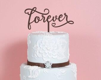 Forever - wedding / engagement cake topper