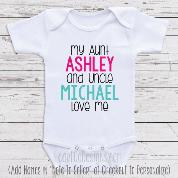 Custom baby clothes my aunt and uncle love me like this item negle Choice Image