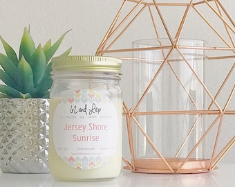 Jersey Shore Sunrise Soy Candle / Soy Candle/NJ Candles/Summer Scents/Summer Scented Candle/Summer Candle/Gift for her/Beach Scented Candle