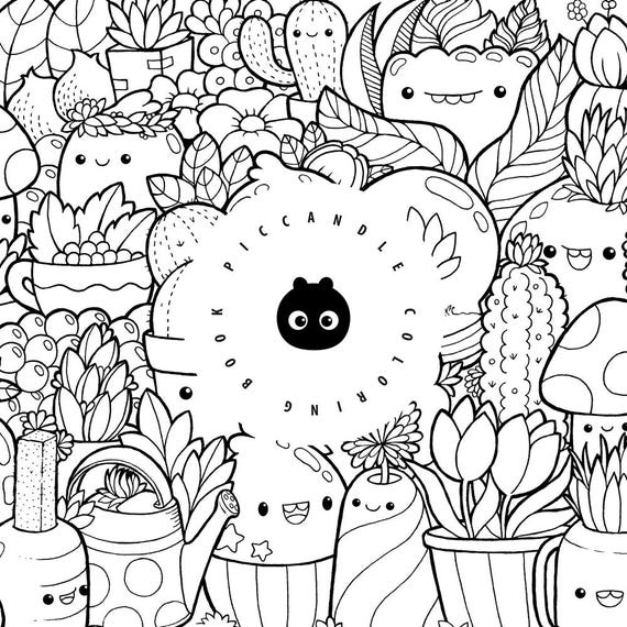 doodle coloring book pages - photo#11