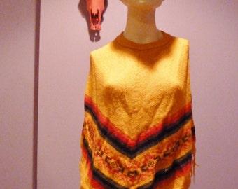 SALE darling ethnic southwestern poncho shawl small medium large one size fits most