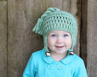 Christmas CROCHET HAT PATTERN: 'Jingle Bell Rock', Newborn to Toddler,  Holiday Fashion