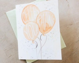 Celebrating You// greeting card - birthday  - graduation - party - kids - son daughter - frienship - celebrate - gift - baby shower -