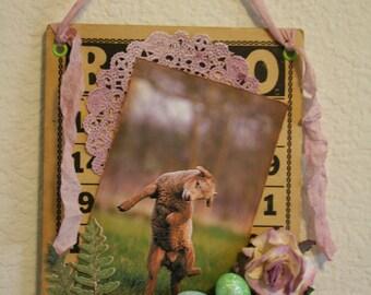 Easter Altered Bingo Card