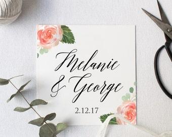 Wedding Welcome Bag Tags, Wedding Favors, Destination Wedding, Wedding Thank You Tag, Gift Tags, Wedding Favor Tag, Square Tag, Garden Party
