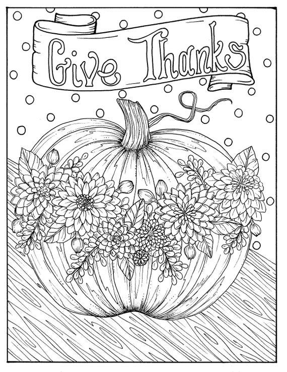 5 Seiten fabelhafte Herbst Digital Downloads Farbe Punpkins