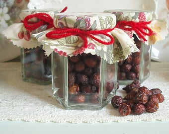 Jar of Dried Natural Rose Hips 8oz