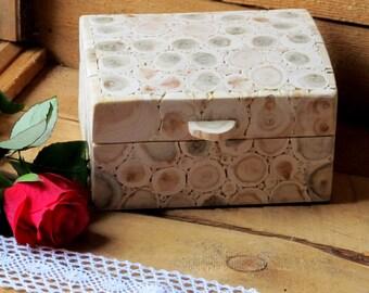 Juniper Wood Box, Wooden Hinged Box, Handmade Wood Box, Rustic Home Decor, Juniper Jewelry Casket, Untreated Wood, Rustic Wedding Box