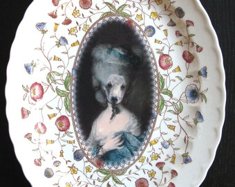 Marie Beartoinette - Altered Vintage Plate
