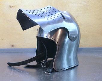Griffon Knight's Helmet, Medieval Buhurt Helmet Griffon, SCA Helmet Griffon, HMB Helmet Griffon, Knight's Helmet Griffon, Steel Helmet