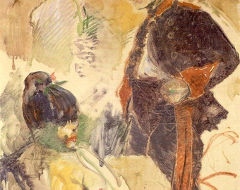 Toulouse-Lautrec - Artilleryman and Girl or The Laundress to Frame or to use in Paper Arts and Collage PSS 2839