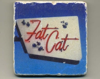 Fat Cat in Uptown - Museum - Original Coaster
