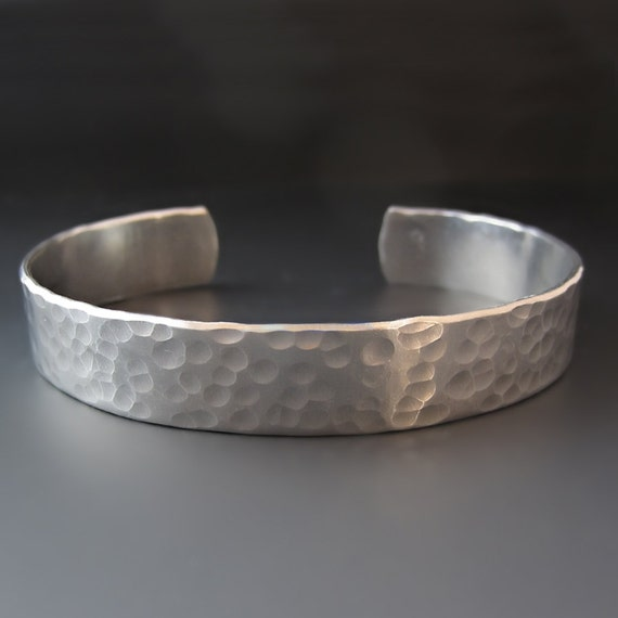 Personalized Custom Hand Stamped Silver Bracelet 1 2