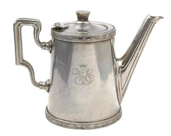 Vintage Orient Express Silver Coffee Pot by Ercuis. French Collectible Railroad Dinnerware. VSOE Venice Simplon Railway Souvenir Silverware.