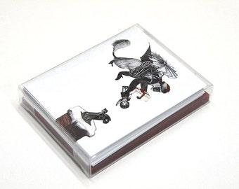 Set of 12 - Christmas Flying Monkey Card