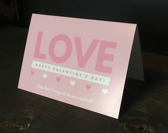 Love you to the moon and back card // Valentine Card // Romantic card // Anniversary Card // Notecard // Dating Card // Cute Valentine Card