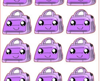 Cute Kawaii Carry-On Suitcase Stickers