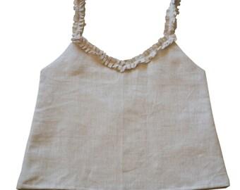 Linen Camisole, Custom Linen Clothing for Women, Linen Top, Linen Tank, Linen Tops for Girls, Linen Loungewear, Spring Summer Fashion